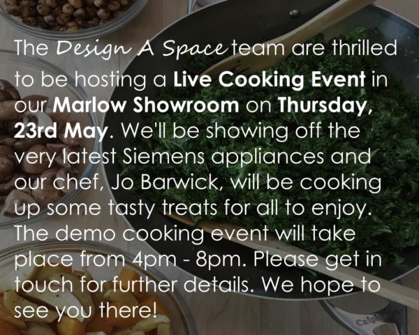 Live Cooking Event, Design A Space Marlow! Image
